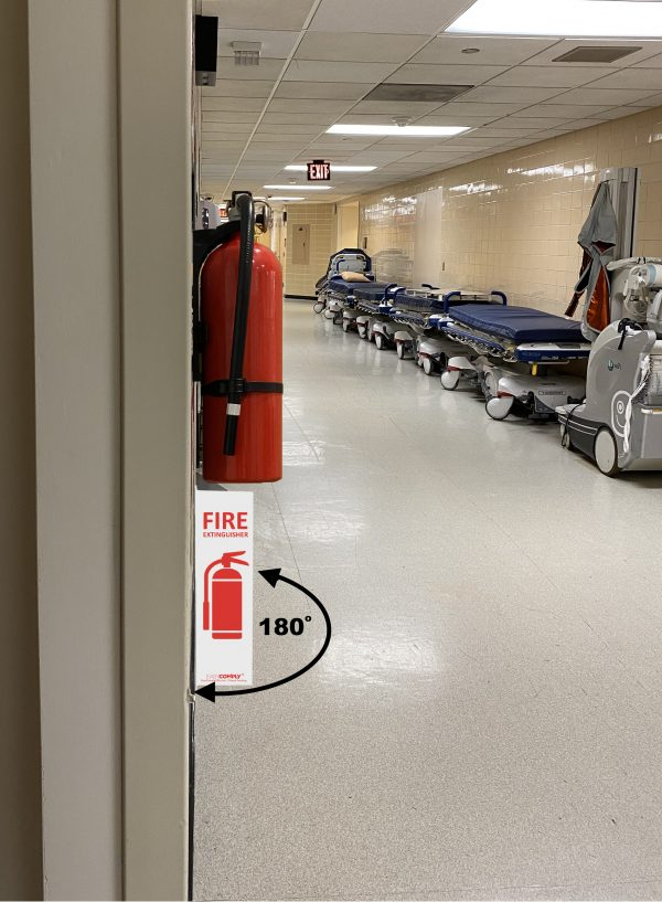 Easy Comply Vertical Extension at Hospital with Extinguisher sm