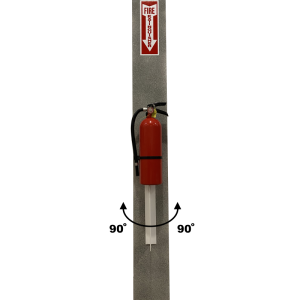 Easy Comply Vertical Extension with Fire Extinguisher - Front View